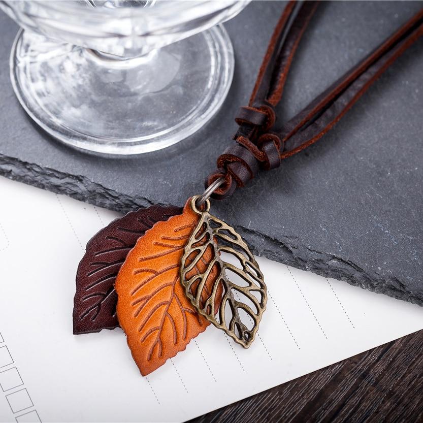 Perhiasan pernyataan kalung & liontin wanita Kalung kulit collier - Perhiasan fashion - Foto 3