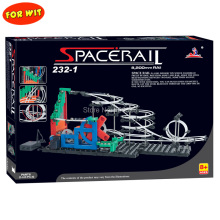 Free ship, Second Generation Space Rail Toys, New Roller coaster  Level 1: UP DOWN STAIR, Overspeeding Model Building Kits 232-1 стоимость