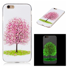 MuTouNiao Cherry Tree Luminous TPU Soft Silicon Cell Phone Case Cover For iPhone 5 5S Se 5C 6 6S 7 8 10 X Plus Back