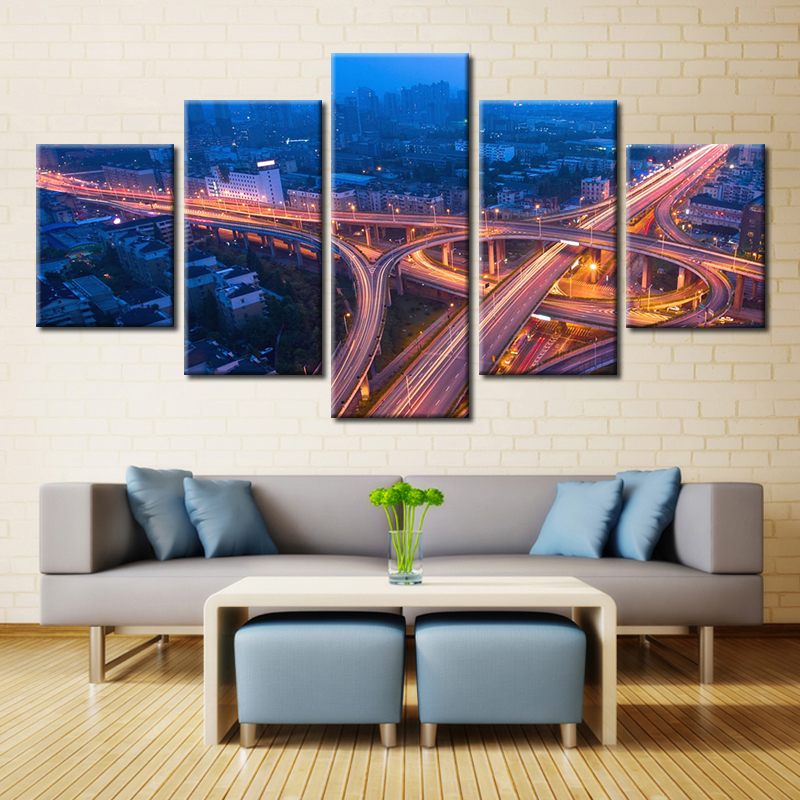 Hot Sales 5 Piece Canvas Painting Usa Cambridge The Renaissance Of Renewable Energy Landscape Picture Wall