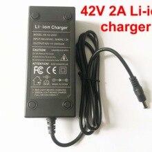 36V 2A DC литий-ионный аккумулятор зарядное устройство выход 42V 2A зарядное устройство используется для 36V 10S 10AH 12AH 15AH 20AH Ebike литиевая батарея Зарядка