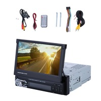 9601 1 DIN Single 7inch HD Digital TFT Touch Screen Car MP5 DVD Player Support Bluetooth Radio With Camera UK Plug