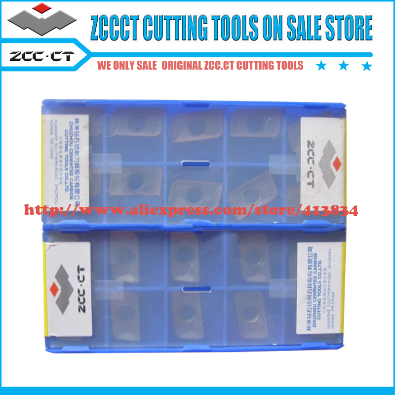 50pcs APKT160408 PM YBG205 APKT 160408 PM APKT160408 ZCC CT Carbide Milling Tool Insert For Stainless