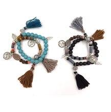 Богемные бриллиантовые очаровательные браслеты с кисточками