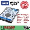 Western Digital WD Синий 500 ГБ hdd SATA 2.5 дискотека duro ноутбук внутренний сабит жесткий диск interno hd ноутбук жесткий диск disque