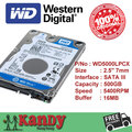 Western Digital WD Azul 500 GB hdd 2.5 SATA disco duro sabit laptop interno hard disk drive hd notebook disco rígido interno disque