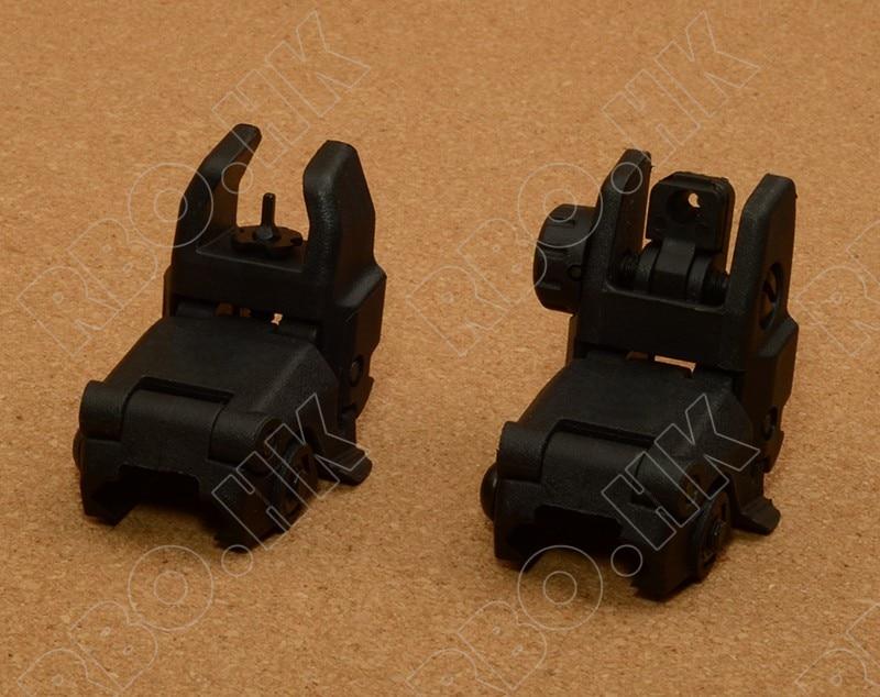 Caza tiro táctico Doble Delantero y Trasero Sights II BK RBO M8488