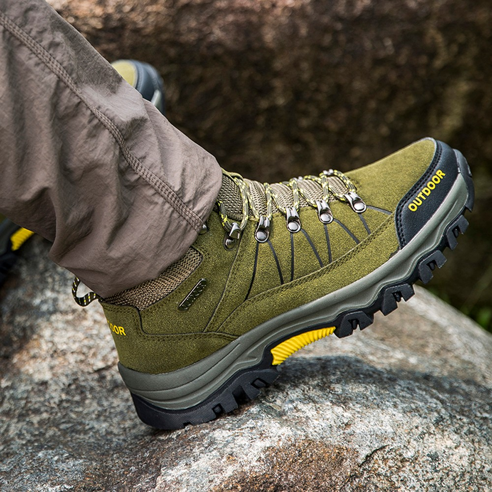 Men Hiking Shoes  Men Sport Shoes Outdoor Jogging Trekking Sneakers Non-slip Wear-resistant Travel Shoes(China)