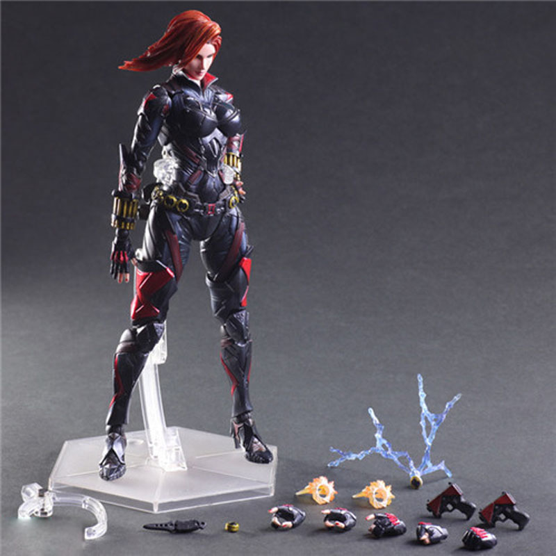 PA Change Marvel Avengers Black Widow Action Figure Collection Craft Ornaments Kids Toy GiftPA Change Marvel Avengers Black Widow Action Figure Collection Craft Ornaments Kids Toy Gift