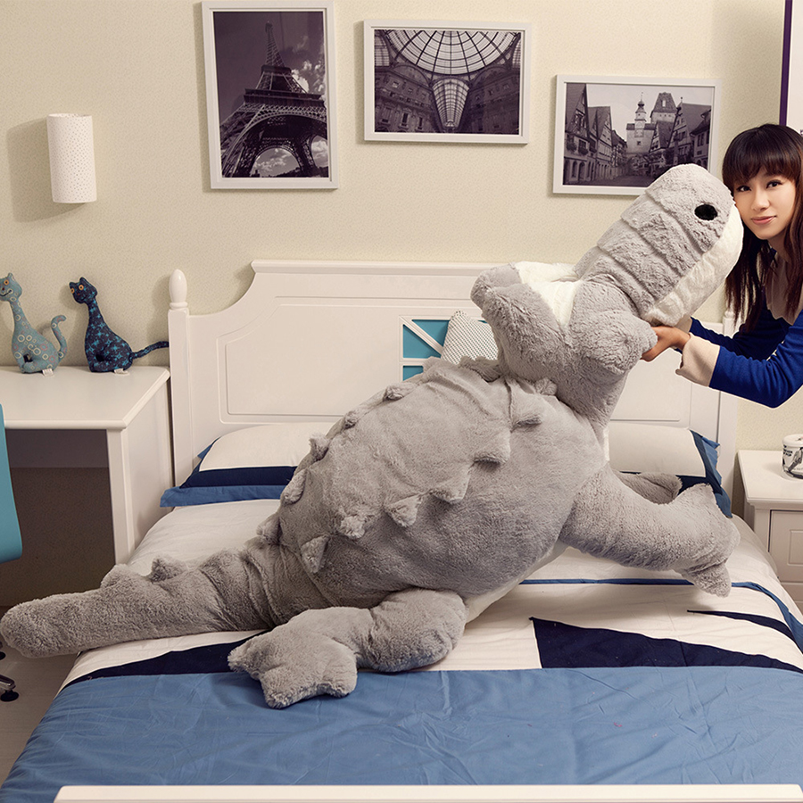 Big Giant Crocodile Decoration Plush Pillow Plush Bed Alligator Toys Stuffed Animal Cushion Girlfriend Gift Juguetes 50T0464 gold christams tree star heart moon bright cloth doll sofa plush stuffed bed room car decoration toys gift pillow cushion ins