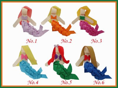 Free  Shipping 20pcs  BLESSING Good Girl Bug Hair Bow Clip Goldfish Calla Mermaid Bloom Floweriness электро скороварка good blessing home yp40d 2l 2 5l