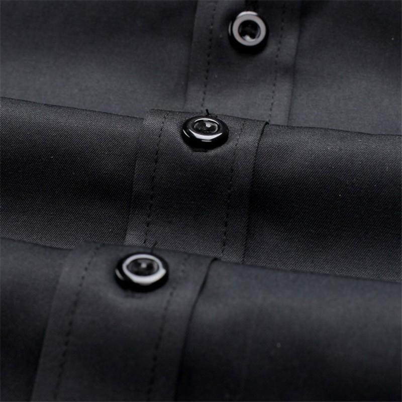 HTB1q6h4LXXXXXafXXXXq6xXFXXXE - New Arrivals Slim Fit Male Shirt Solid Long Sleeve British Style Cotton Men's Shirt N332
