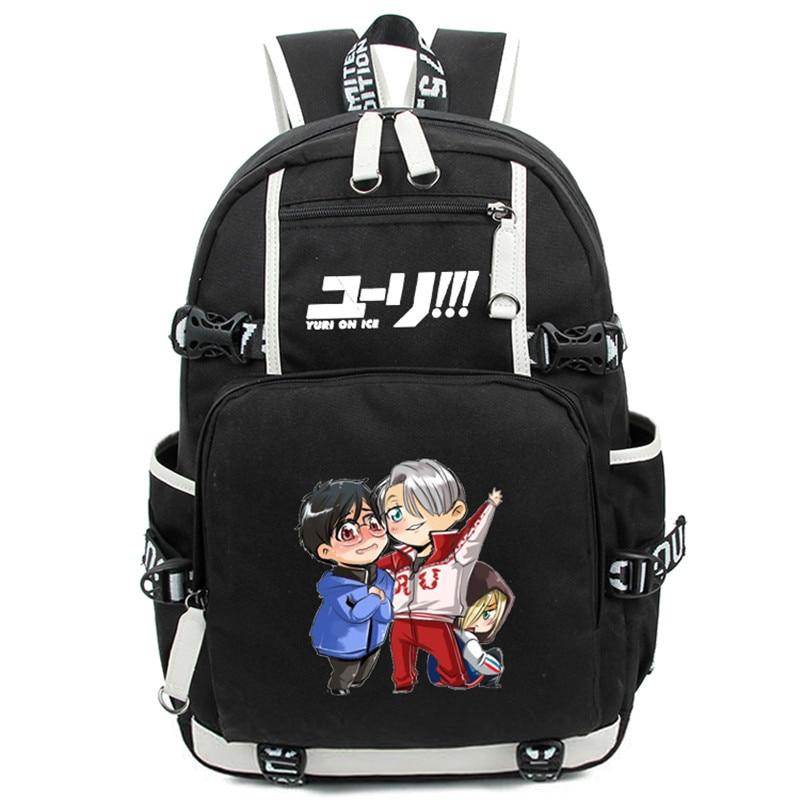 Anime YURI on ICE Victor Women Men Backpack Nikiforov Bolsa Mochila Schoolbag Bag For School Boys Girls Student