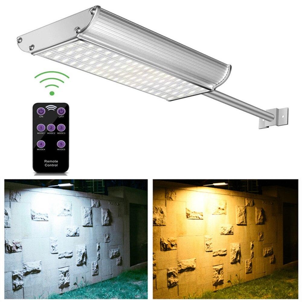 70 lampadaire solaire LED avec télécommande 5 Modes capteur de mouvement lampadaire étanche Super lumineux lumière de jardin solaire