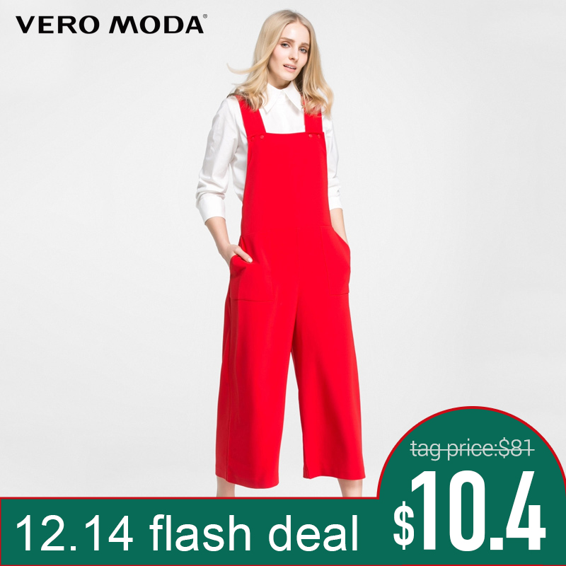 36b86760c Comprar Vero moda Marca 2018 NOVA OL estilo regular estilo Americano  elegante suspender jumpsuits OL estilo das mulheres perna larga macacão