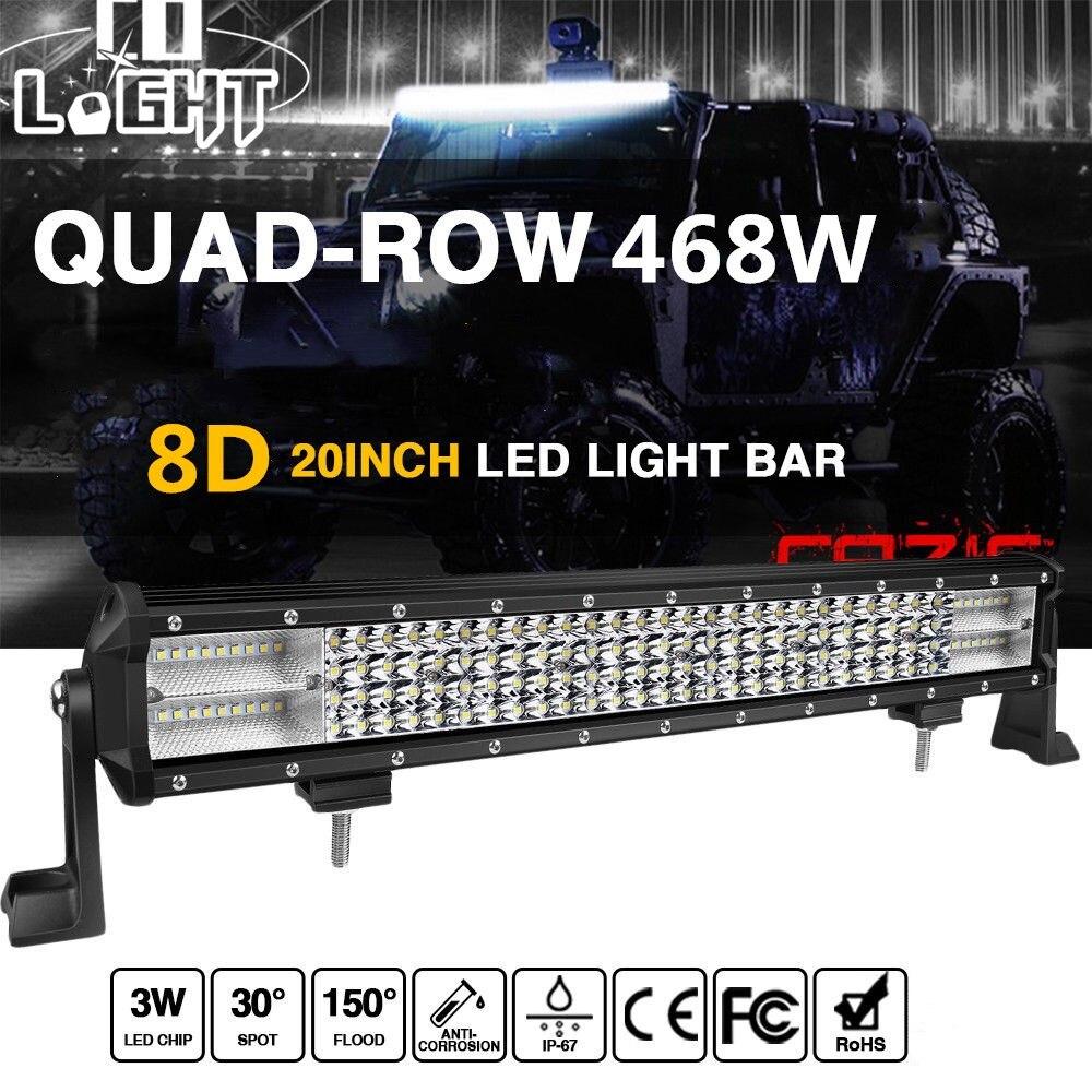 co light 20 inch offroad led light bar 468w 12v 24v led. Black Bedroom Furniture Sets. Home Design Ideas