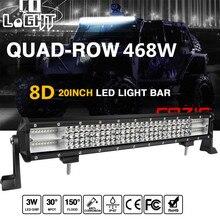 CO LUZ 20 polegada Offroad Levou Barra de Luz 468 W 12 V 24 V LED Trabalho Barra de luz Auto Levou Luz Bar Combo Feixe de luz para o Caminhão ATV 4×4 Lada Jeep