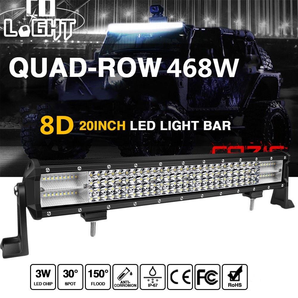 COLIGHT 20 inch Offroad Car Led Light Bar 468W 12V LED Work Light Bar Auto Led Bar Light Combo Beam for Truck SUV 4x4 Lada Jeep