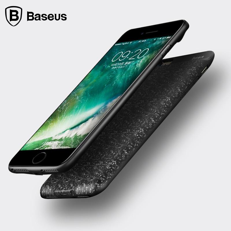 imágenes para De Baseus Caja de Batería Para el iphone 7 5000 mAh Cargador de Batería Externo caso Para el iphone 7 Más Caso banco de la Energía 7300 mAh Mochila cubierta