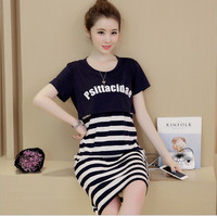 100 Cotton Maternity Dresses Blouses Shirts Clothing Dress Top Clothes For Pregnant Women Plus Size Fashion