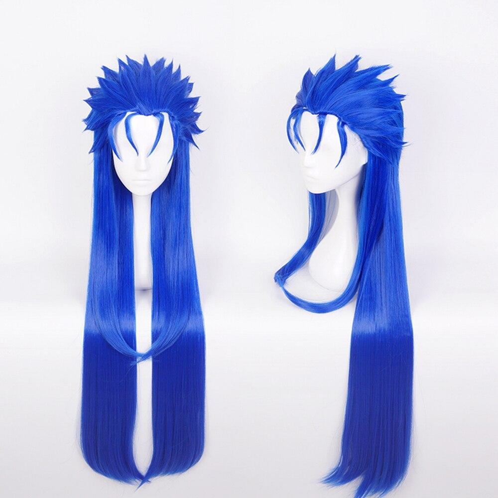 Halloween Wig Cosplay FGO Fate//Extra Lancer CuChulainn Blue long fashion Hair