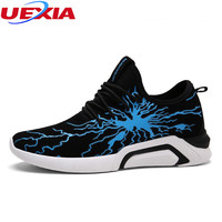 UEXIA New Fashion Leather Shoes Brand Casual Men Shoes Adult Sneakers Zapatos High Top Shoes Male