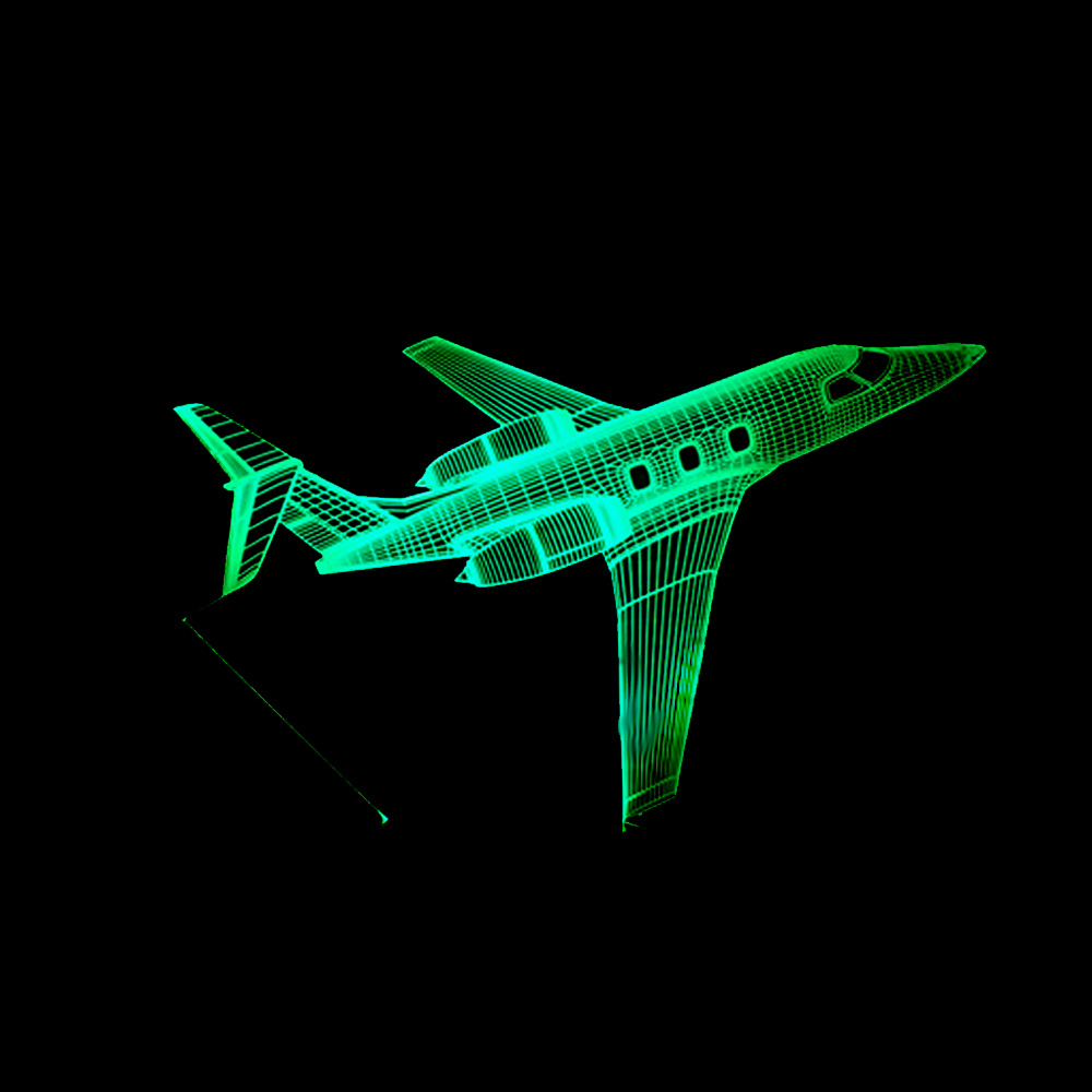 Jet AirPlane 3D LED Lamp 7 Color Change Fly To Earth Aircraft Night Light Baby Bedroom Table Light Fixture Best Home Decor Gifts