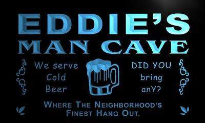 x0136-tm Eddies Social Club Man Cave Custom Personalized Name Neon Sign Wholesale Dropshipping On/Off Switch 7 Colors DHL