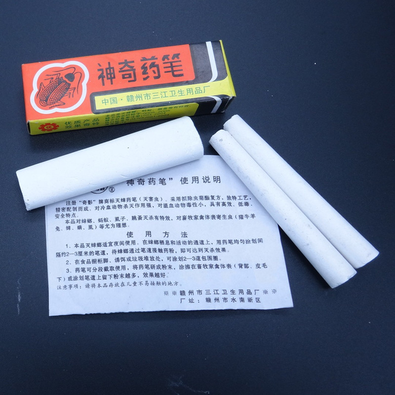 5Pcs Pest Control Magic Pen Chalk cockroach medicine insecticide Cockroach Killer Powder Killing Cockroaches, ants, fleas, lice gis chino para chinches