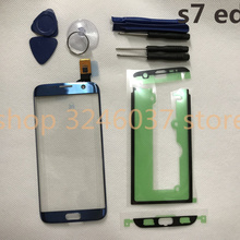 "Original new Tested For Samsung Galaxy S7 Edge G935 G935F 5.5"" Touch Screen Digitizer LCD Outer Panel front glass+Adhesive+Tools"
