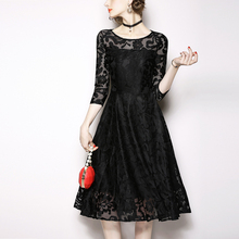 ARiby Women Summer Dress Vintage Hollow out Lace Half Sleeve O-neck Elegant Waist collection