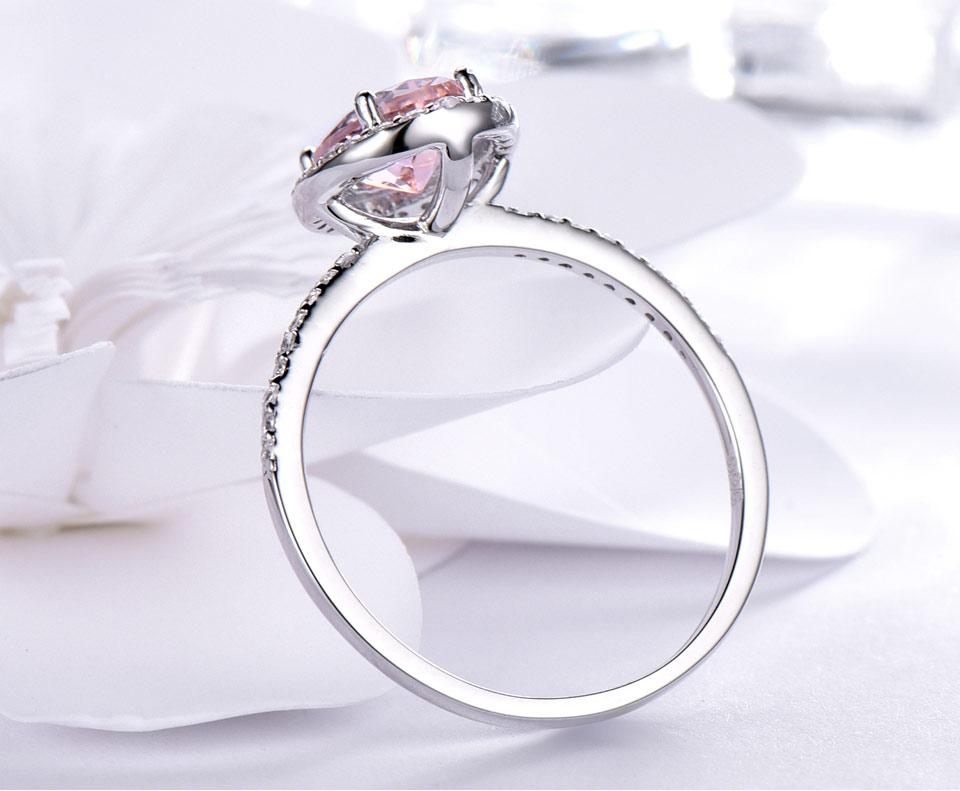 HTB1q6iewr1YBuNjSszeq6yblFXa3 UMCHO 925 Sterling Silver Ring Oval Classic Pink Morganite Rings For Women Engagement Gemstone Wedding Band Fine Jewelry Gift