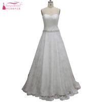 Lace Mermaid Wedding Dresses 2018 Real Crystal Beaded A Line Bridal Gowns Vestidos De Noiva Zipper Back ZP022