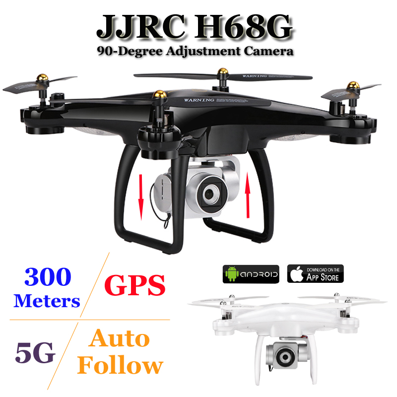 US $120 58 24% OFF|JJRC H68G GPS Drone With Camera 1080P HD 5G Wifi FPV  Quadrocopter RC Helicopter Professional Dron Compass Auto Follow  Quadcopter-in
