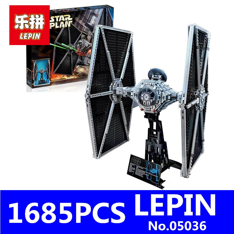 LEPIN 05036 1685Pcs Star Series Wars Tie Fighter Building Blocks Bricks Set Children Educational Toys Compatible 75095 Gift