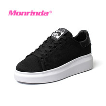 Designer Sneakers Woman Breathable Black Walking Shoes Female sportschuhe damen Height Increasing Women Flat Outdoor Sneaker
