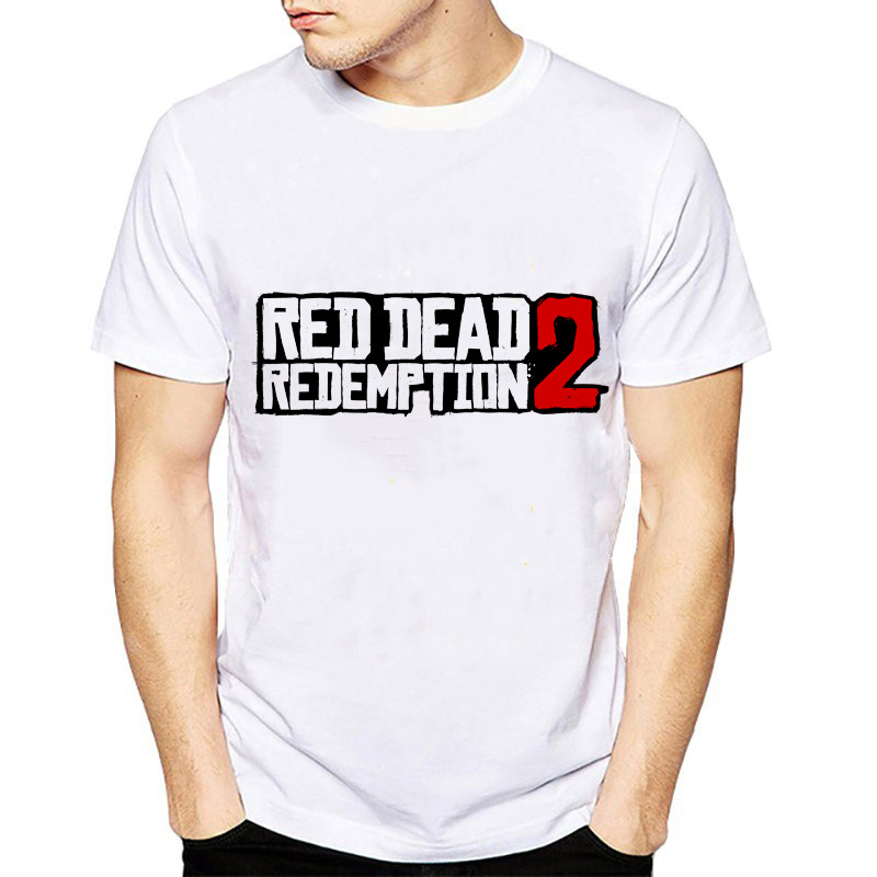 Fashion T Shirt Men for Game Red Dead Redemption 2 Cosplay O-Neck Printed  T-shirts Short Sleeve Tops Tee Shirts