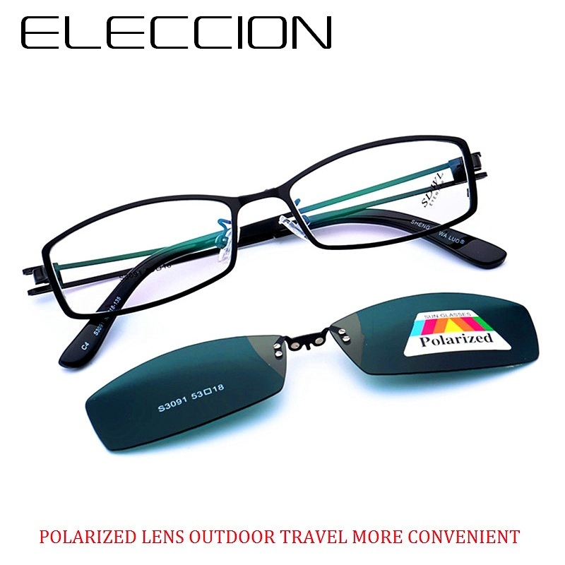 ELECCION Sports Drive Style Optical Myopia Spectacles Frame For Men s Full Frame Matching Magnet Lens