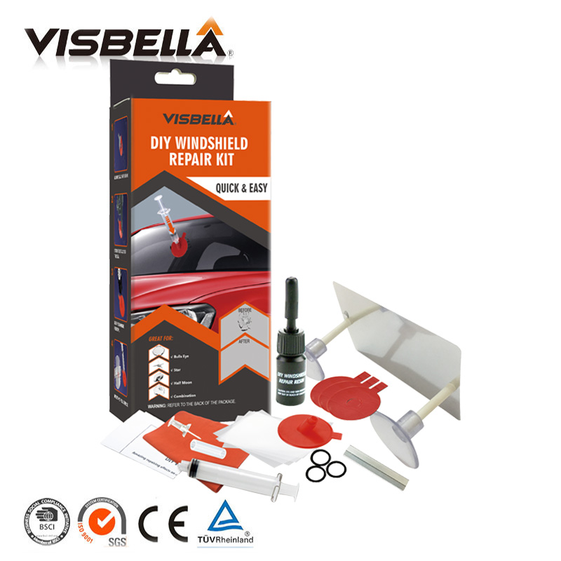 Visbella DIY Windshield Repair kit Windscreen Glass for Car Repair Hand Tool Set Scratches Chips Cracks Restore Window Polishing