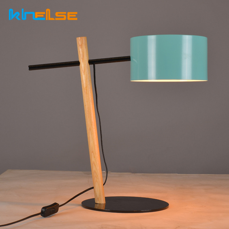 Modern Simple Table Lamp Nordic Sofa LED Desk Lamp Metal Desk Lights Bedside Bedroom Reading Study Office Coffee Decor Lighting north european style retro minimalist modern industrial wood desk lamp bedroom study desk lamp bedside lamp