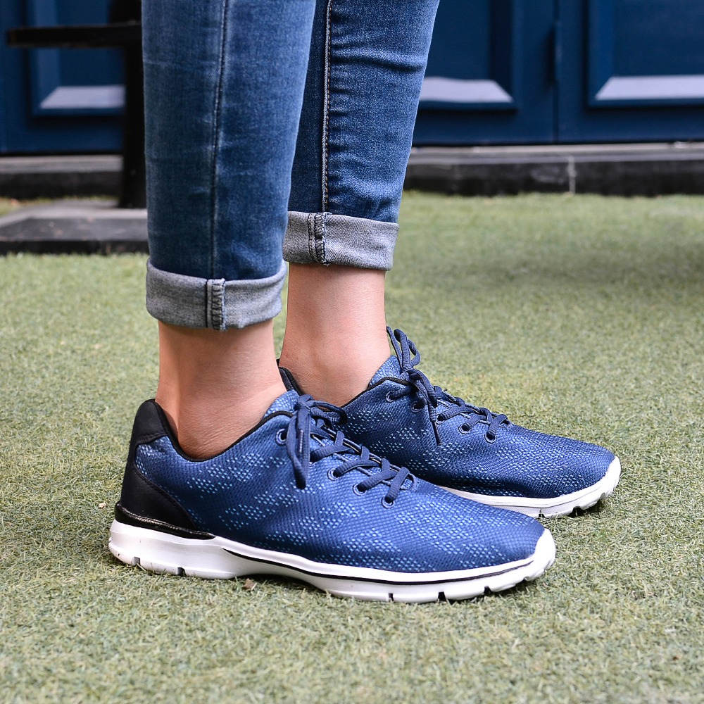 QANSI New Gradually Changing Color Women Running Shoes Spring Autumn Breathable Shoes Outdoor Sport Sneakers For Female 1678W 25