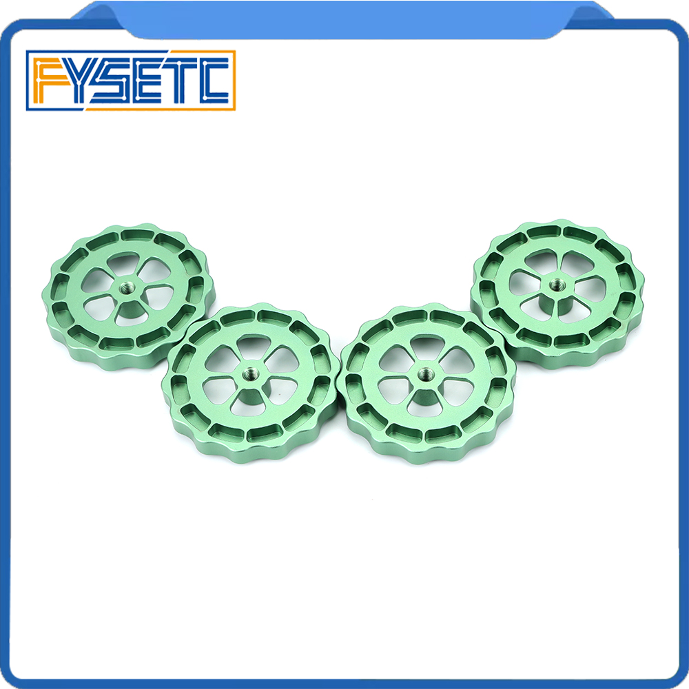4pcs <font><b>3D</b></font> Printer <font><b>Parts</b></font> Big Hand Twist Leveling Nut All Metal Green For <font><b>TEVO</b></font> <font><b>Tornado</b></font> Ultimate Leveling Knob Leveler M5 thread image