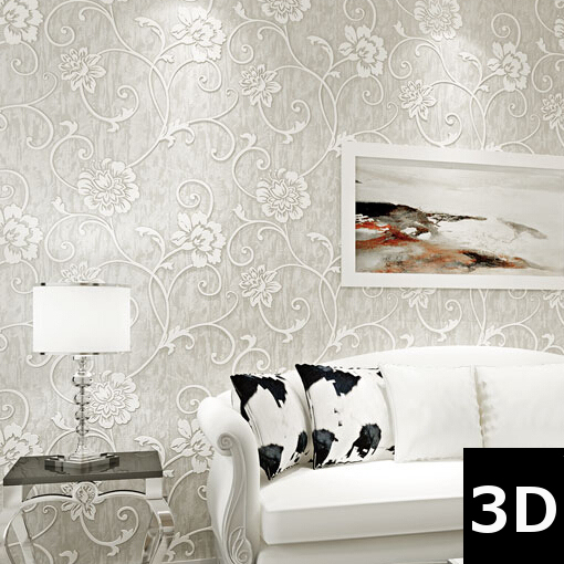 Papeles pintados modernos pared great ambientes papeles - Papeles pintados clasicos ...