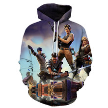 2018 The new 3D printing men game even hoodies leisure Hip hop movement even hoodies(China)