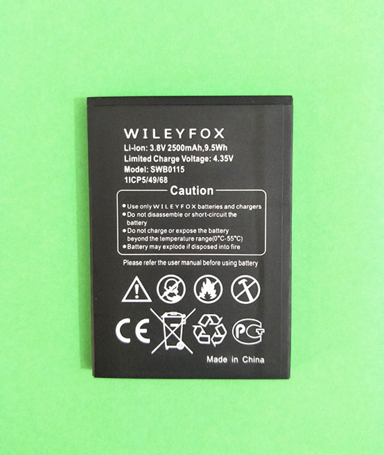 AZK High quality 3.8V 2500mAh SWB0115 Replacement Battery for Wileyfox Swift SWB0115 Cell Mobile Phone battery