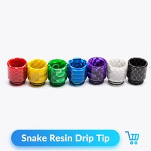 Volcanee 1pc/lot Snake Drip Tip Epoxy Resin 810 Mouthpiece for TFV8 Mad Dog RDA RTA Tank E Cigarettes Vape Accessories