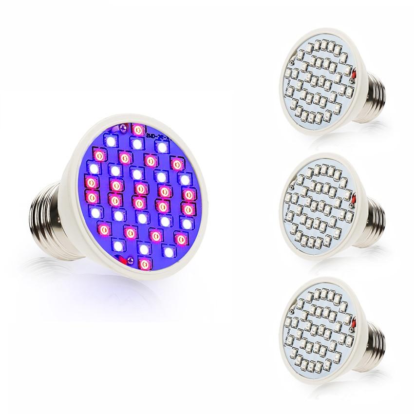 چراغ های روشنایی گیاهان LED برای گیاهان چادر آکواریوم و سیستم هیدروپونیک 4W / E27 20Red 16Blue 36Leds