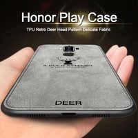 For Huawei honor play case Fabric For huawei honor play case silicone for huawei honor play case luxury TPU 6.3 inch COR-AL00