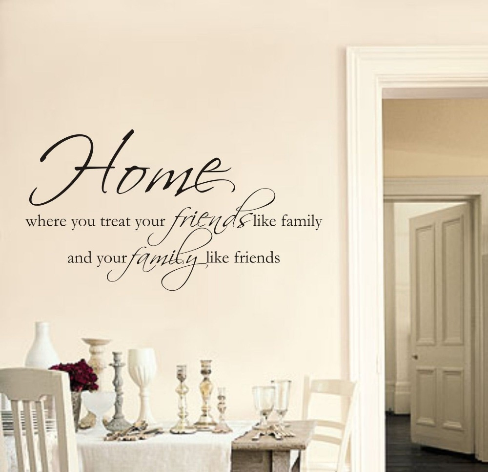 Home Friends Family Wall Art Sticker Quote Living Room