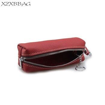 XZXBBAG porte-clé en cuir véritable grande capacité affaires hommes voiture porte-clés sac titulaire femmes porte-clés organisateur femme de ménage
